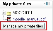Manage my private files