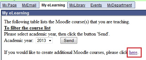 Apply Moodle course